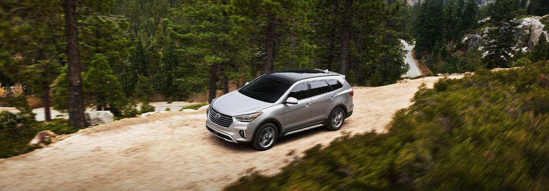 2018 Hyundai Santa Fe driving on off-road trail