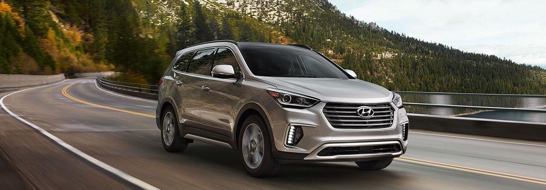 2018 Hyundai Santa Fe driving on a road