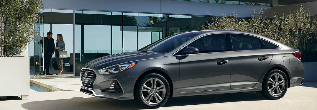 2018 Hyundai Sonata parked in front of building