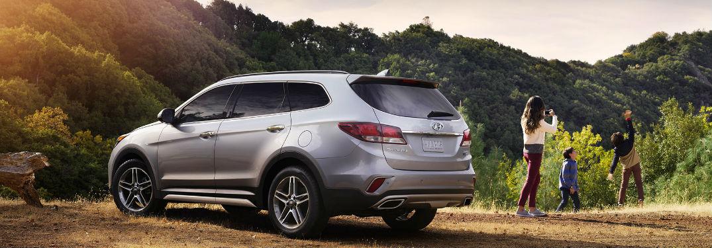 2018 Hyundai Santa Fe parked on side of road