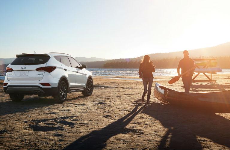 2018 Hyundai Santa Fe Sport Parked On A Beach