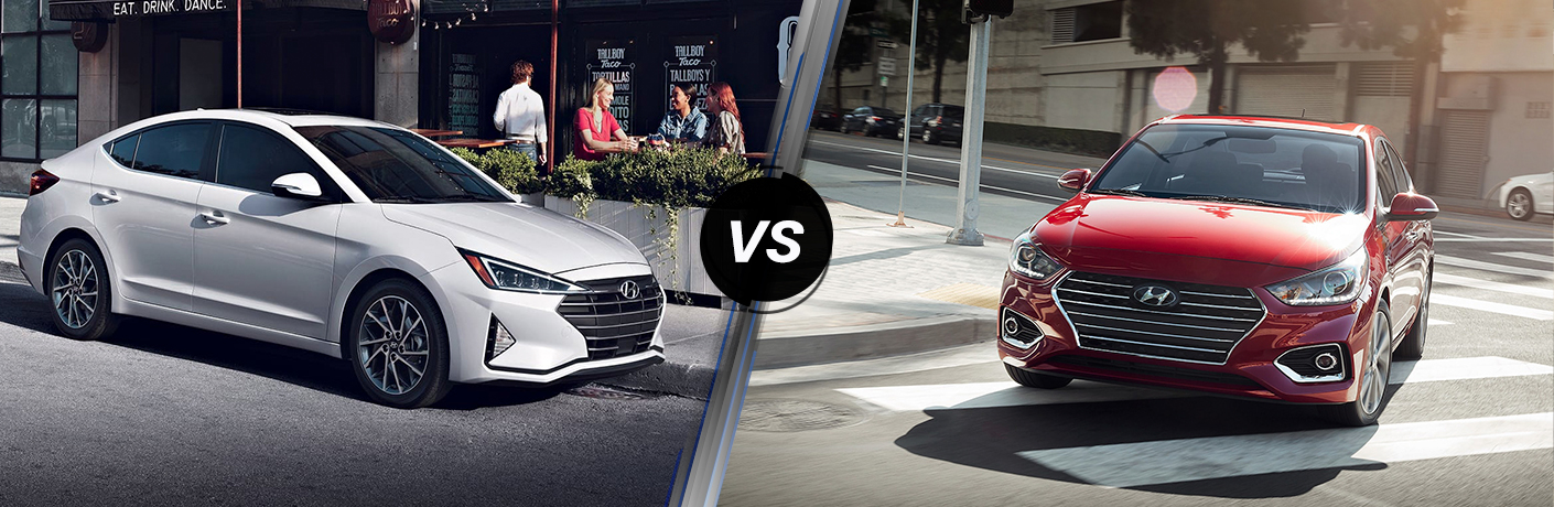 2019 Hyundai Elantra vs 2019 Hyundai Accent