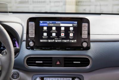 2019 Hyundai Kona EV interior close up of screen display