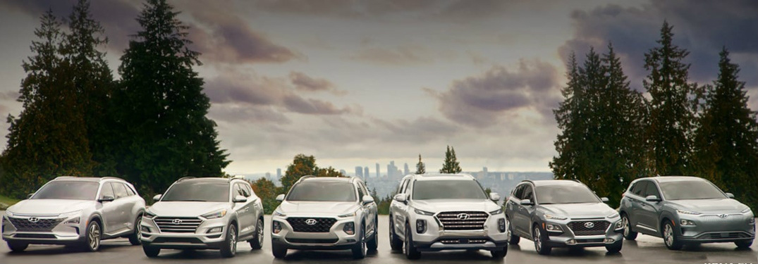 2019 Hyundai SUV and crossover lineup front view