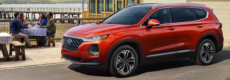 2019 Hyundai Santa Fe by Adults at Picnic Table