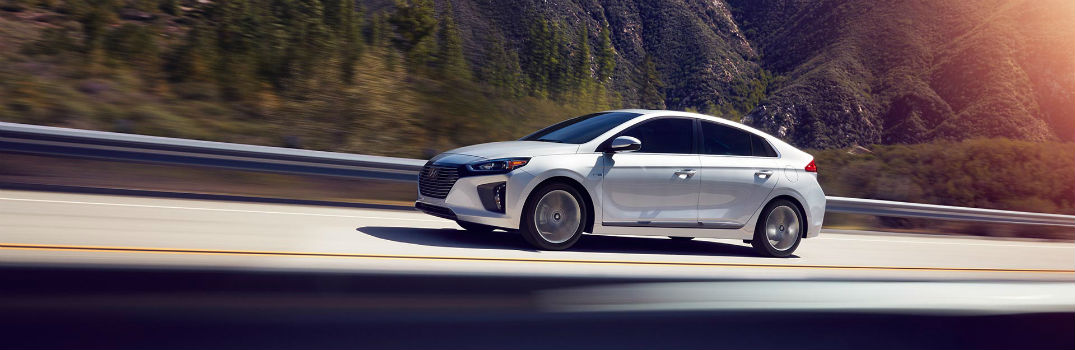 2019 Hyundai Ioniq Exterior Driver Side Front Profile in Motion