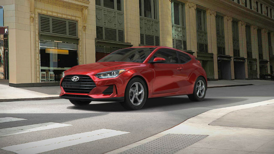 2019 Hyundai Veloster Exterior Driver Side Front Profile Racing Red