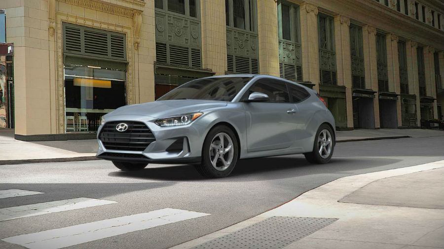 2019 Hyundai Veloster Exterior Driver Side Front Profile Sonic Silver