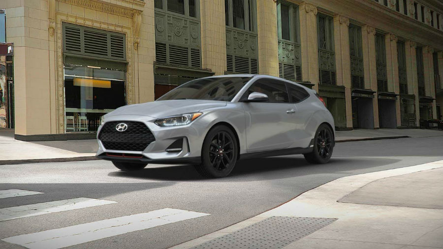 2019 Hyundai Veloster Exterior Driver Side Front Profile Space Gray