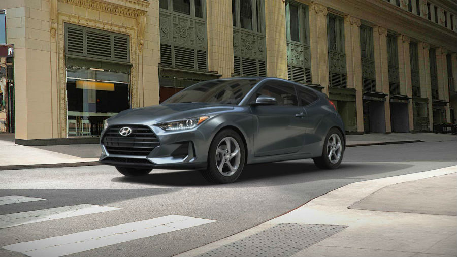 2019 Hyundai Veloster Exterior Driver Side Front Profile Thunder Gray