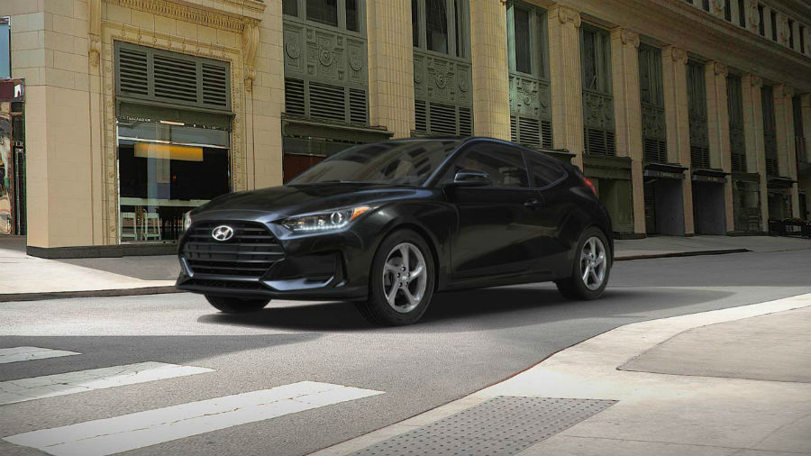 2019 Hyundai Veloster Exterior Driver Side Front Profile Ultra Black