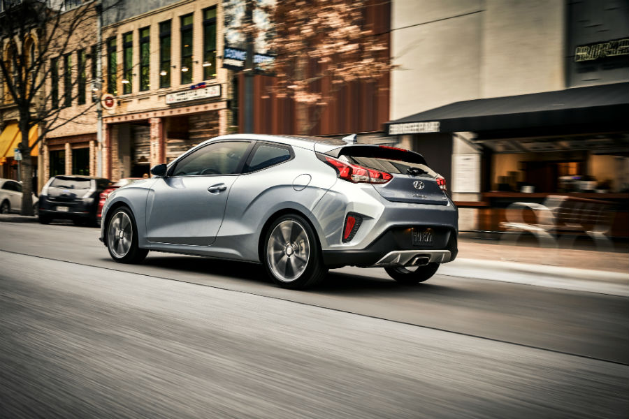 2019 Hyundai Veloster Exterior Driver Side Rear Profile