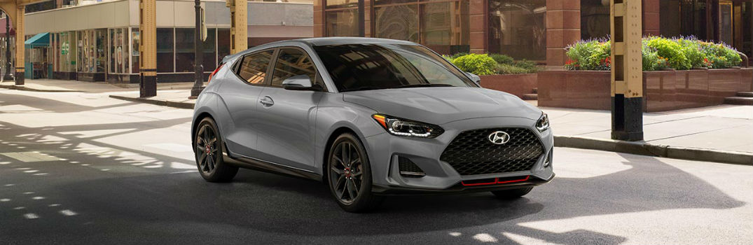 2019 Hyundai Veloster Exterior Passenger Side Front Profile Space Gray