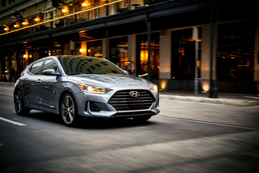 2019 Hyundai Veloster Exterior Passenger Side Front Profile