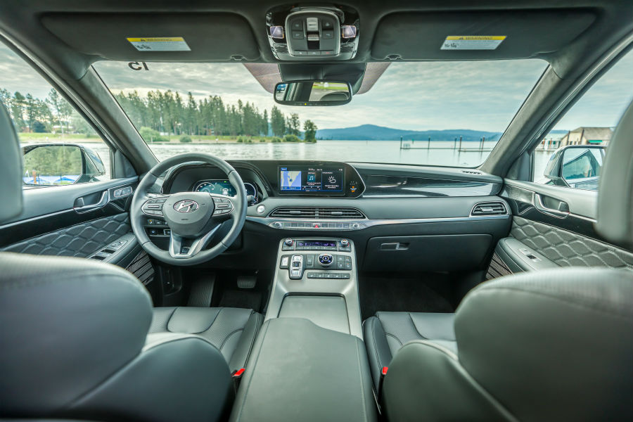 2020 Hyundai Palisade Interior Cabin Dashboard at Beach