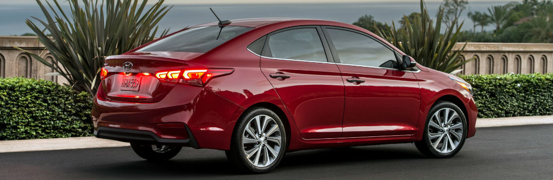 2020 Hyundai Accent Exterior Passenger Side Rear Profile