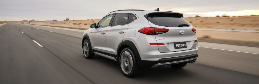 2020 Hyundai Tucson Exterior Driver Side Rear Profile