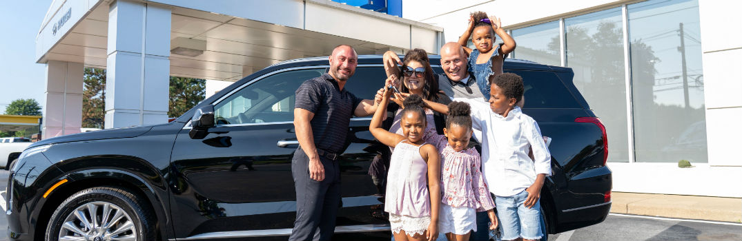 Beauchene Family with Salesman and 2020 Hyundai Palisade