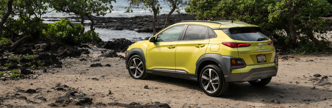2019 Hyundai Kona Exterior Driver Side Rear Profile