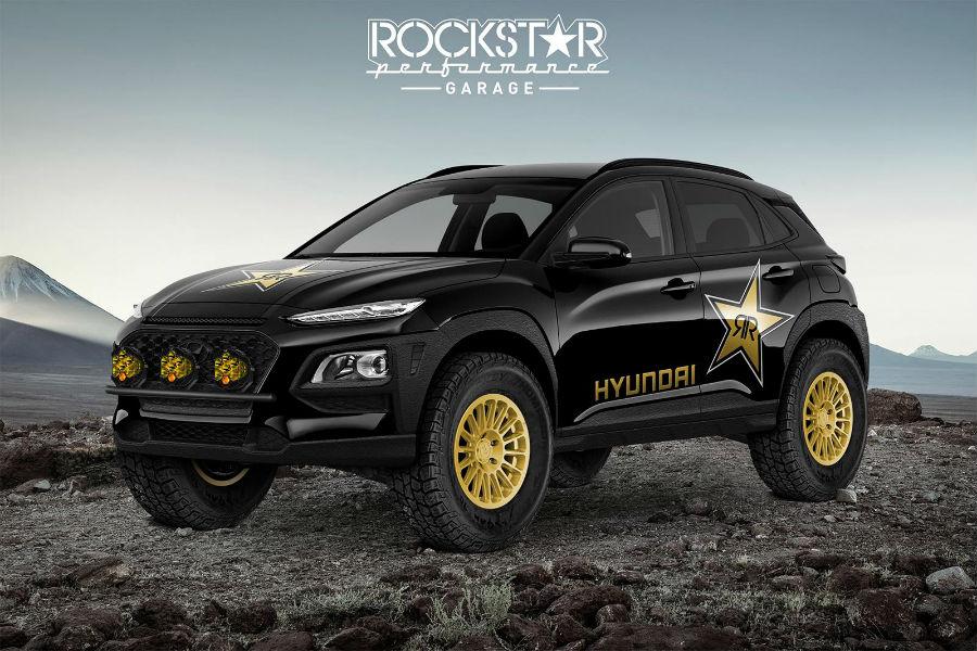 2020 Hyundai Rockstar Performance Garage Kona Ultimate Concept Exterior Driver Side Front Profile