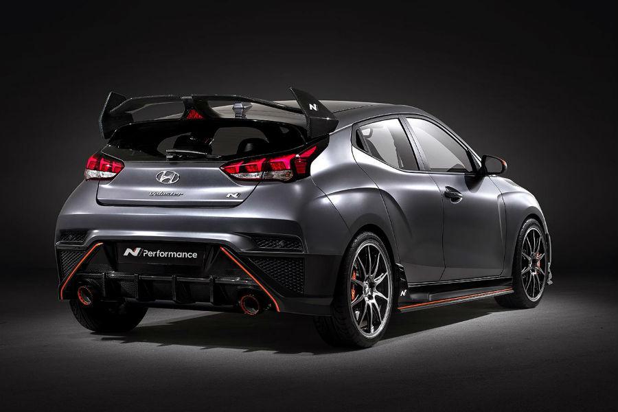 2020 Hyundai Veloster N Performance Concept Exterior Passenger Side Rear Profile