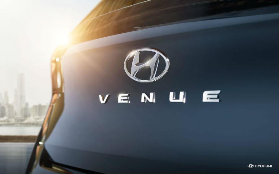 2020 Hyundai Venue Denim Exterior Rear Fascia