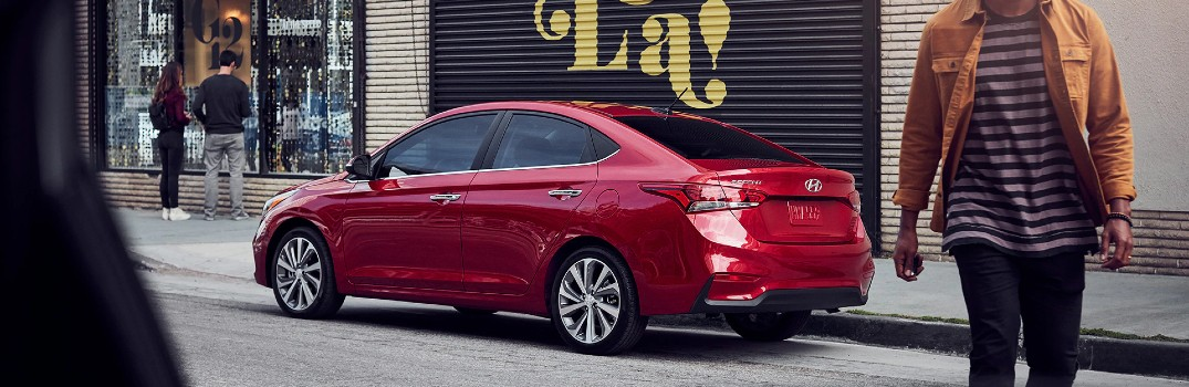 red 2020 Hyundai Accent
