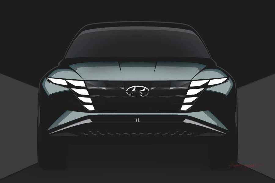 Front angle of the Hyundai Vision T concept