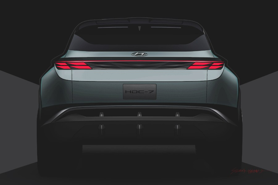 Rear angle of the Hyundai Vision T concept