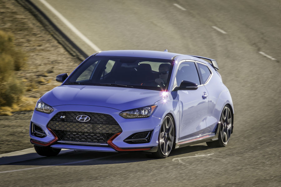 2020 Hyundai Veloster N Exterior Driver Side Front Angle