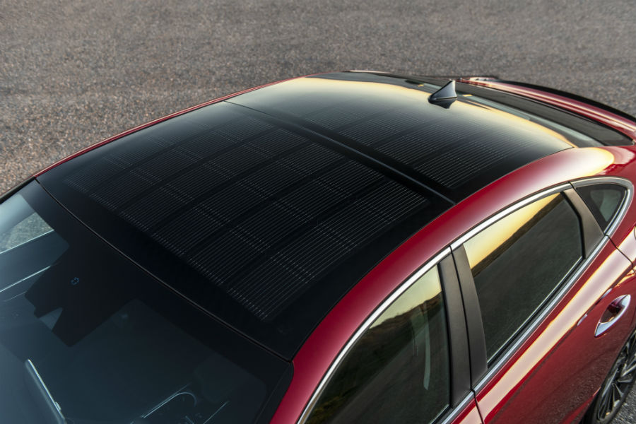 2020 Hyundai Sonata Hybrid Exterior Solar Roof System