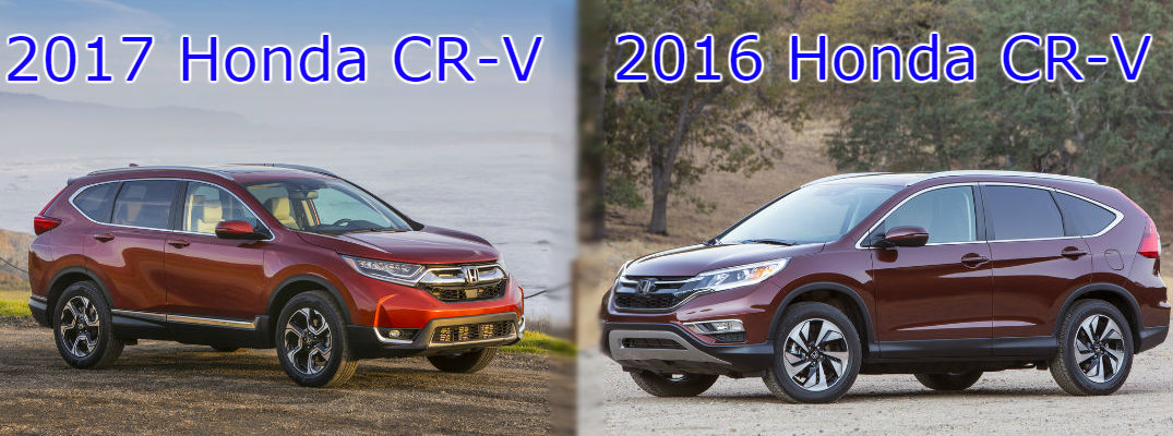 How does the 2017 cr v compare to the 2016 planet honda for Honda crv 2017 vs 2018