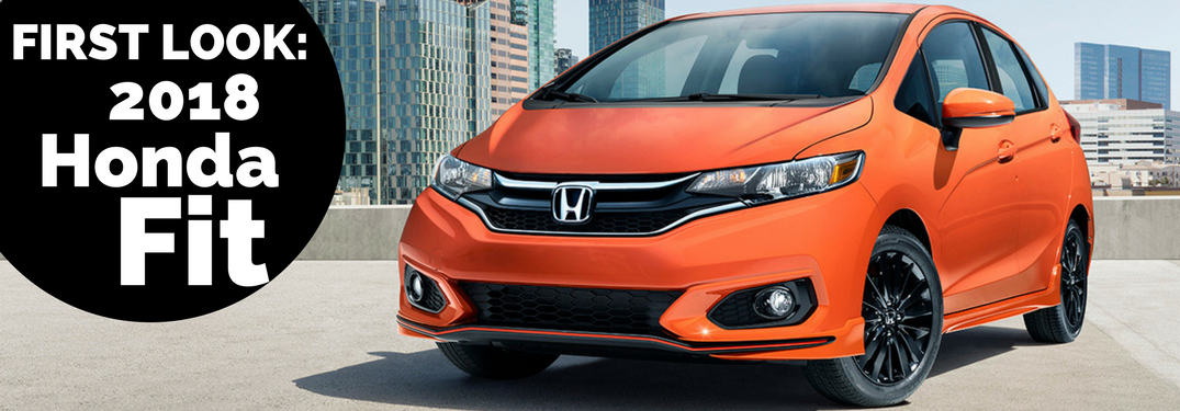 2018 Honda Fit in orange
