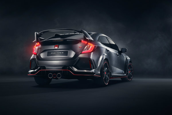 2018 honda civic type r rear facing