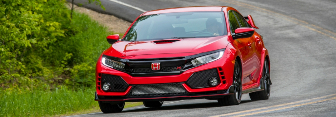 2018 honda civic type r rally red track driving