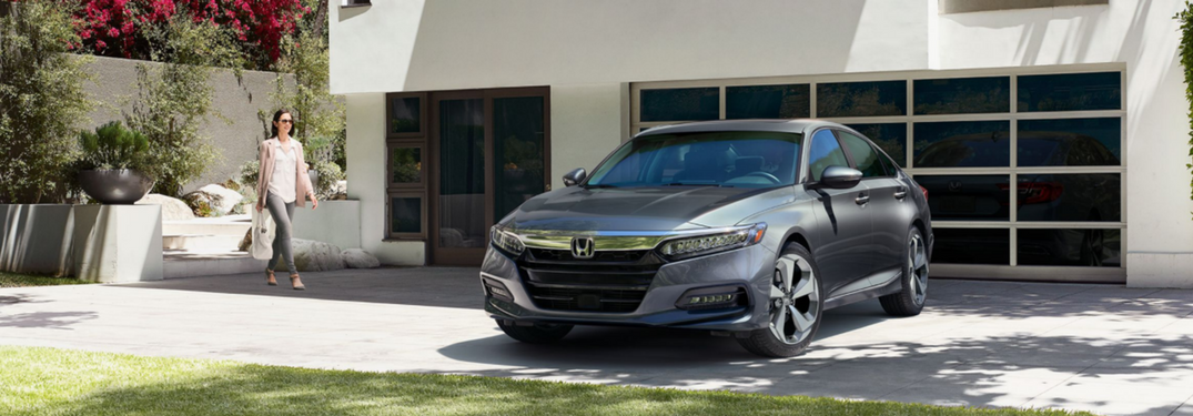 2018 honda accord parked in driveway