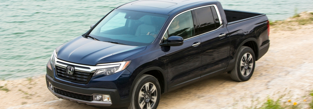 2019 honda ridgeline driving by water