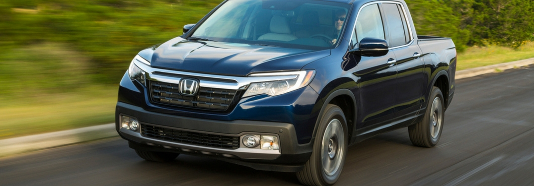 2019 honda ridgeline driving full view
