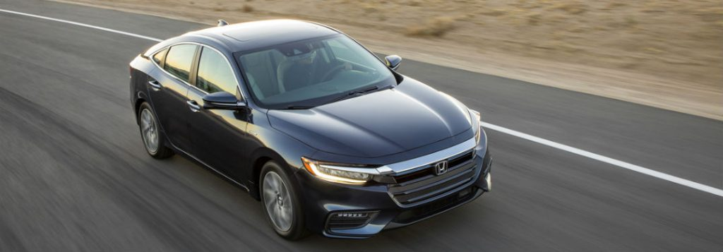 2019 honda insight driving full view