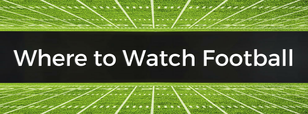 Where to Watch Football, Black and Green Banner
