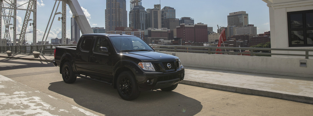 2018 Nissan Frontier parked on bridge exterior front side angle
