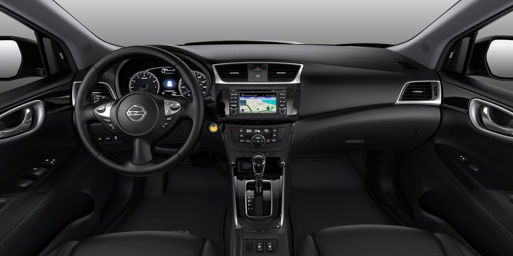 2018 Nissan Sentra Charcoal Leather SL Interior