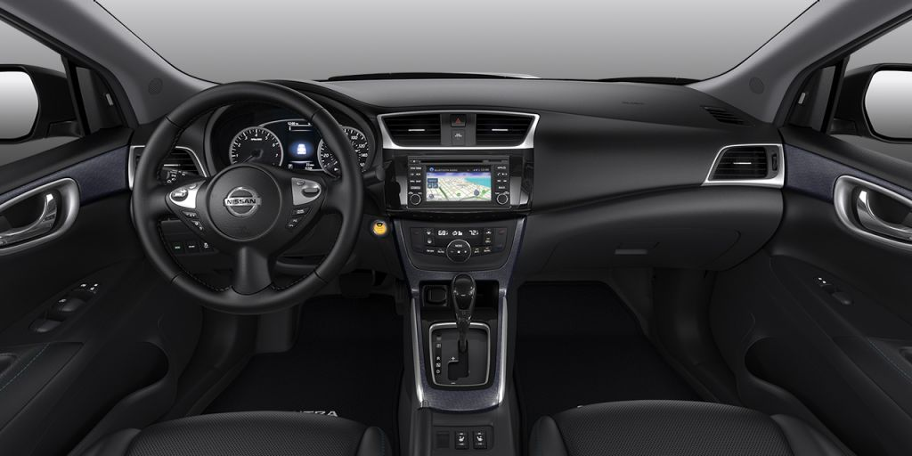 Sobre Nissan Sentra 2018-Nissan-Sentra-Charcoal-Leather-SR-Interior-1_o