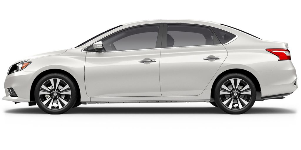 2018 Nissan Sentra in Aspen White from Side View