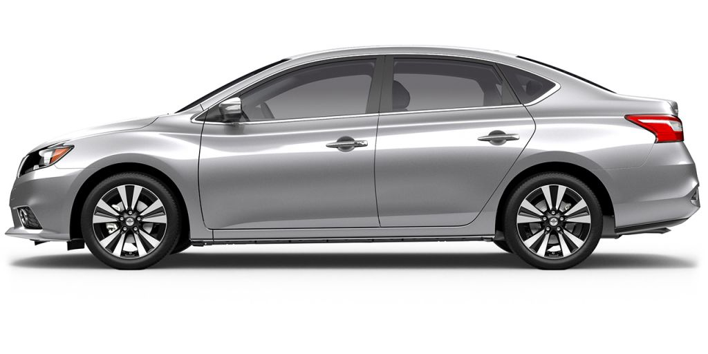 2018 Nissan Sentra in Brilliant Silver from Side View
