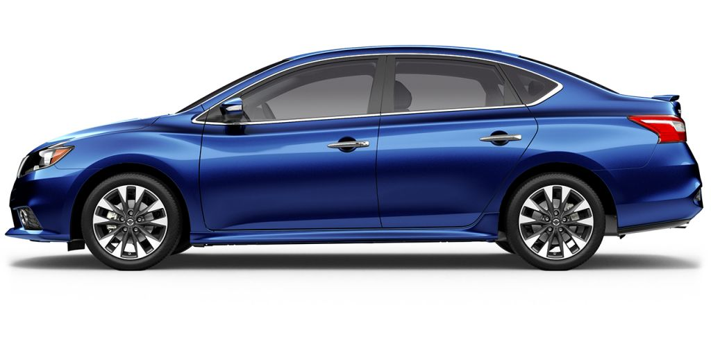 2018 Nissan Sentra in Deep Blue Pearl from Side View