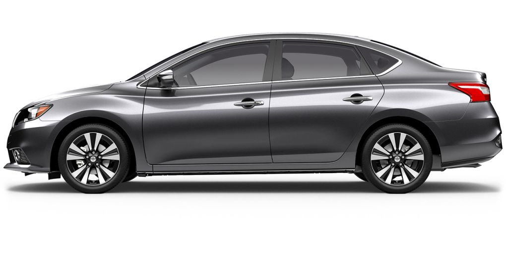 2018 Nissan Sentra in Gun Metallic from Side View