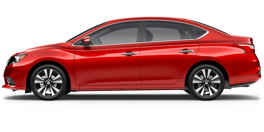2018 Nissan Sentra in Red Alert from Side View