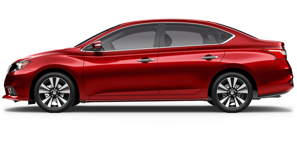 2018 Nissan Sentra in Scarlet Ember from Side View