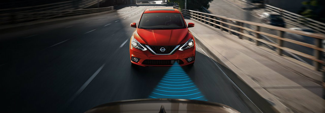 2018 Nissan Sentra using Automatic Emergency Braking to avoid an accident